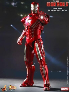 Iron Man 3 Hot Toys 1/6 Scale Collectible Figure Iron Man Mark 33 Silver Centurion Pre-Order ships August