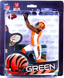 McFarlane Toys NFL Sports Picks Series 33 Action Figure AJ Green (Cincinnati Bengals) Orange Jersey Collector Level Only 1,000 Made!