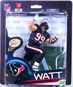 McFarlane Toys NFL Sports Picks Series 33 Action Figure JJ Watt (Houston Texans) Blue Jersey & Blue Pants Chase Only 1,000 Made!
