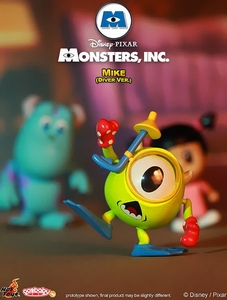 Monsters, Inc. Hot Toys 3 Inch Mini Cosbaby Figure Mike  [Diver Ver.] Pre-Order ships March