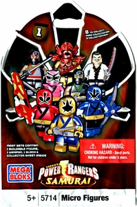 Power Rangers Samurai Mega Bloks Series 1 Mystery Pack [1 RANDOM Mini Figure]