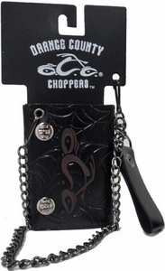 Orange County Choppers OCC Maroon Logo Leather Chain Wallet