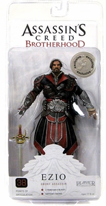 NECA Assassin's Creed: Brotherhood Exclusive Action Figure Ezio EBONY [UNhooded]