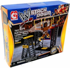 C3 WWE Wrestling Stack Down Set #21002 Kofi Kingston's Ladder Match