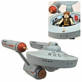 Star Trek Exclusive Minimates Vehicle & Mini Figure Mirror Mirror Enterprise & Captain Kirk