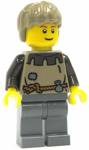 LEGO Castle LOOSE Complete Human Mini Figure Young Peasant Man