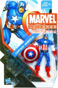 Marvel Universe 3 3/4 Inch Series 22 Action Figure #004 Captain America [Classic Costume]