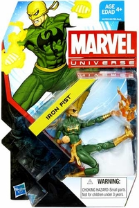 Marvel Universe 3 3/4 Inch Series 22 Action Figure #002 Iron Fist [Green Outfit]
