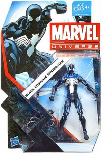 Marvel Universe 3 3/4 Inch Series 22 Action Figure #007 Black Costume Spider-Man