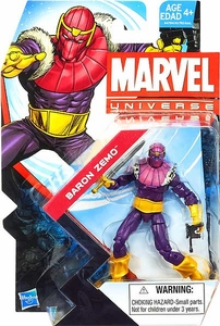 Marvel Universe 3 3/4 Inch Series 23 Action Figure #022 Baron Zemo