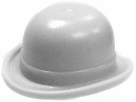 LEGO LOOSE Headgear Gray Bowler Derby Hat
