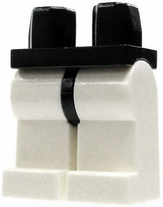 LEGO LOOSE Legs Black Hips with White Legs