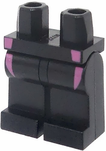 LEGO LOOSE Legs Black Legs with Pink Wetsuit Lines