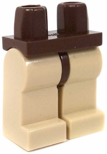 LEGO LOOSE Legs Brown Hips & Tan Legs