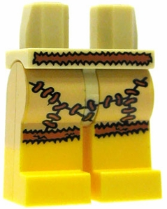 LEGO LOOSE Legs Tan Hips with Animal Skin