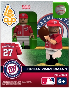 OYO Baseball MLB Generation 2 Building Brick Minifigure Jordan Zimmermann [Washington Nationals]