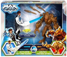 Max Steel Battle Pack Turbo Sword Max vs Exploding Earth Elementor