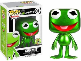 Funko POP! Muppets 2013 SDCC San Diego Comic-Con Exclusive Vinyl Figure Kermit [Metallic]