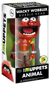 Funko POP! Muppets 2013 SDCC San Diego Comic-Con Exclusive Wacky Wobbler Bobble Head Animal [Metallic]