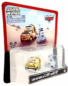 Disney / Pixar CARS Star Wars Exclusive 1:55 Die Cast Car Luigi & Guido as C-3PO & R2-D2