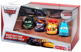 Disney / Pixar CARS Movie Exclusive 1:55 Die Cast Cars Race Day Fan 4-Pack #4 [Alloy Hemberger, Max Schnell, Nigel Gearsley & Miguel Camino]
