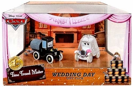Disney / Pixar CARS Time Travel Mater Exclusive Die Cast Car 2-Pack Wedding Day [Stanley & Lizzie]