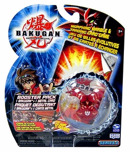 Bakugan Classic Booster Pack Nova 12 Pyrus [Red] [1 Random Figure & 1 Metal Card!]