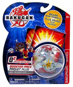 Bakugan B2 Bigger Brawlers Bakupearl Booster Pack Luminoz [Gray] [1 Random Figure & 2 Cards!]