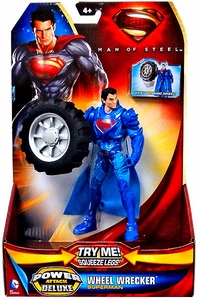 Man of Steel Movie Power Attack Deluxe Action Figure Wheel Wrecker Superman