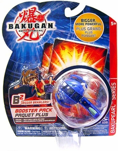 Bakugan B2 Bigger Brawlers Bakupearl Booster Pack Aquos [Blue] [1 Random Figure & 2 Cards!]