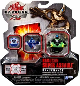 Bakugan Super Assault Single Figure Bakuchance [Green & Black]