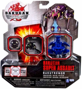 Bakugan Super Assault Bakutremor Single Figure Clawsaurus [Blue]