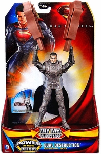 Man of Steel Movie Power Attack Deluxe Action Figure Dual Destruction General Zod