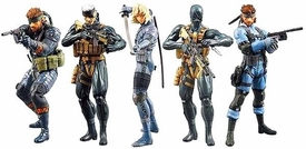 Metal Gear Solid 20th Anniversary Action Figure 5-Pack [MGS 1 Snake, MGS 3 Snake, MGS 4 Snake, Raiden & Otacon] Pre-Order ships April