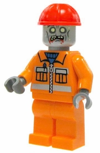 LEGO Zombie LOOSE Custom Mini Figure Construction Worker Zombie [Version 2]