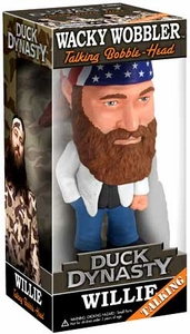 Funko Duck Dynasty Wacky Wobbler Talking Bobble Head Willie Robertson