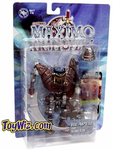 Maximo Army of Zin Action Figure Reaper Damaged Package, Mint Contents!