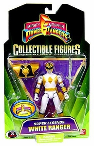 Power Rangers Super Legends Collectible Action Figure White Ranger