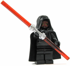 LEGO Star Wars LOOSE Mini Figure Darth Maul with Silver Double-Sided Lightsaber