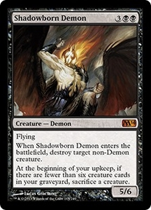 Magic: The Gathering Magic 2014 Single Card Black Mythic Rare #115 Shadowborn Demon