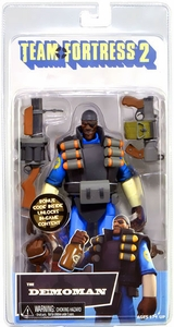 NECA Team Fortress 2 BLU Series 1 Action Figure Demoman [In Game Virtual Item Redemption Code!]