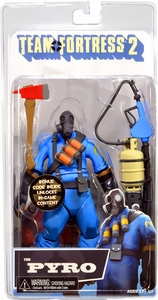 NECA Team Fortress 2 BLU Series 1 Action Figure Pyro [In Game Virtual Item Redemption Code!]