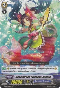 Cardfight Vanguard ENGLISH Dazzling Divas Single Card Common EB06/016 Dancing Fan Princess, Minato
