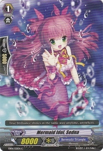 Cardfight Vanguard ENGLISH Dazzling Divas Single Card Common EB06/021 Mermaid Idol, Sedna