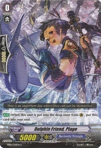 Cardfight Vanguard ENGLISH Dazzling Divas Single Card Common EB06/026 Dolphin Friend, Plage