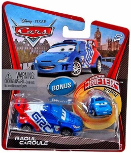Disney / Pixar CARS Movie Micro Drifters & 1:55 Die Cast Car Raoul Caroule