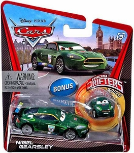Disney / Pixar CARS Movie Micro Drifters & 1:55 Die Cast Car Nigel Gearsley