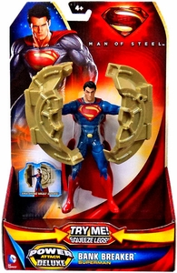 Man of Steel Movie Power Attack Deluxe Action Figure Bank Breaker Superman