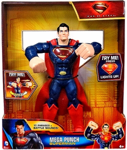 Man of Steel Movie 10 Inch Action Figure Mega Punch Superman