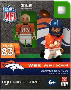 OYO Football NFL Building Brick Minifigure Wes Welker [Denver Broncos]